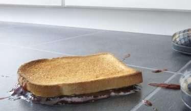 Unlucky toast with jam
