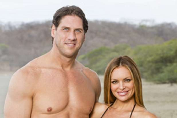 Dating couple John Rocker and Julie McGee, will be among the castaways competing on SURVIVOR this season, themed Blood vs. Water, when the Emmy Award-winning series returns for its 29th season with a special 90 minute premiere, Wednesday, Sept. 24 (8:00-9:30 PM, ET/PT) on the CBS Television Network. Photo: Monty Brinton/CBS ©2014 CBS Broadcasting, Inc. All Rights Reserved.