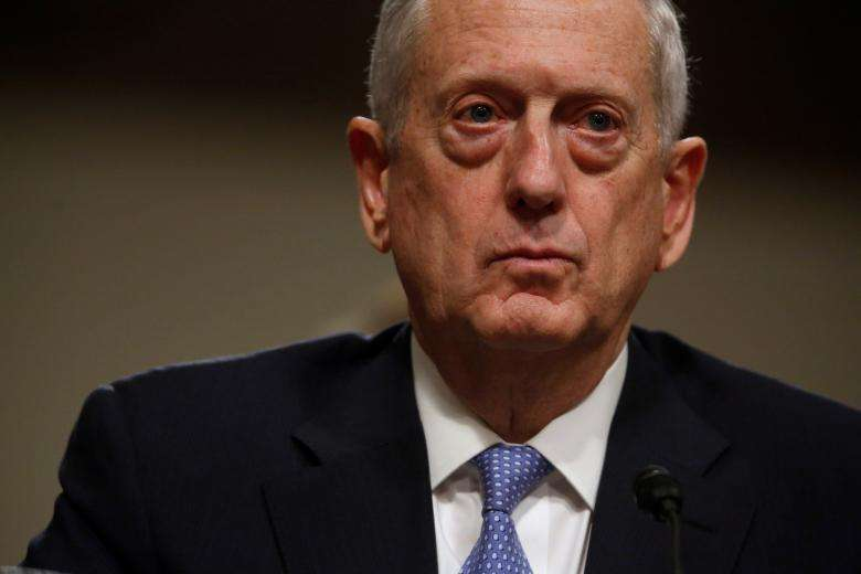 """Retired four-star Marine Corps General James """"Mad Dog"""" Mattis was sworn in as Secretary of Defense hours after Trump was sworn in on January 20.   REUTERS/Jonathan Ernst"""