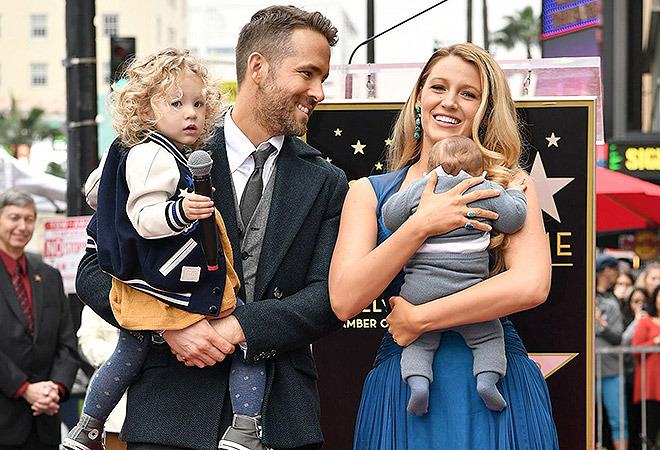 Mandatory Credit: Photo by Rob Latour/Variety/REX/Shutterstock (7567188bl) Ryan Reynolds and Blake Lively Ryan Reynolds honored with star on The Hollywood Walk of Fame, Los Angeles, USA - 15 Dec 2016