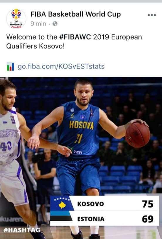 FIBA i uron mirëseardhje Kosovës në kualifikimet për  Kina 2019
