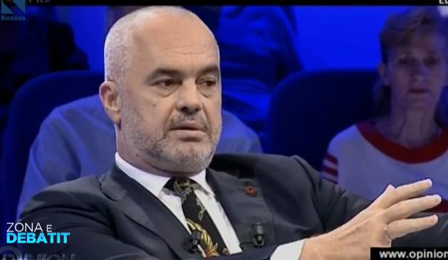 Edi Rama e konsideron të papranueshme që Hashim Thaçi të quhet  argat i Beogradit