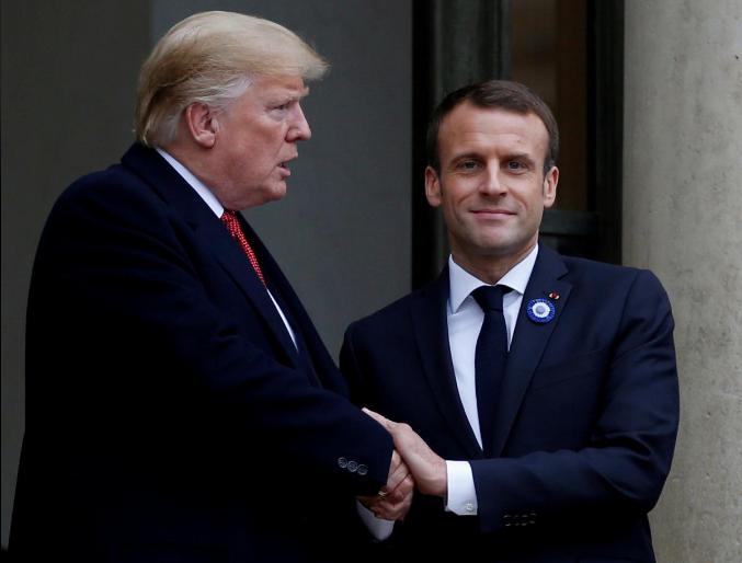 Macron i kundëpërgjigjet Trumpit  Franca  aleat i SHBA ve por jo shtet vasal