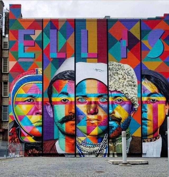 Fytyra e mërgimtarit shqiptar në muralin gjigand në New York City