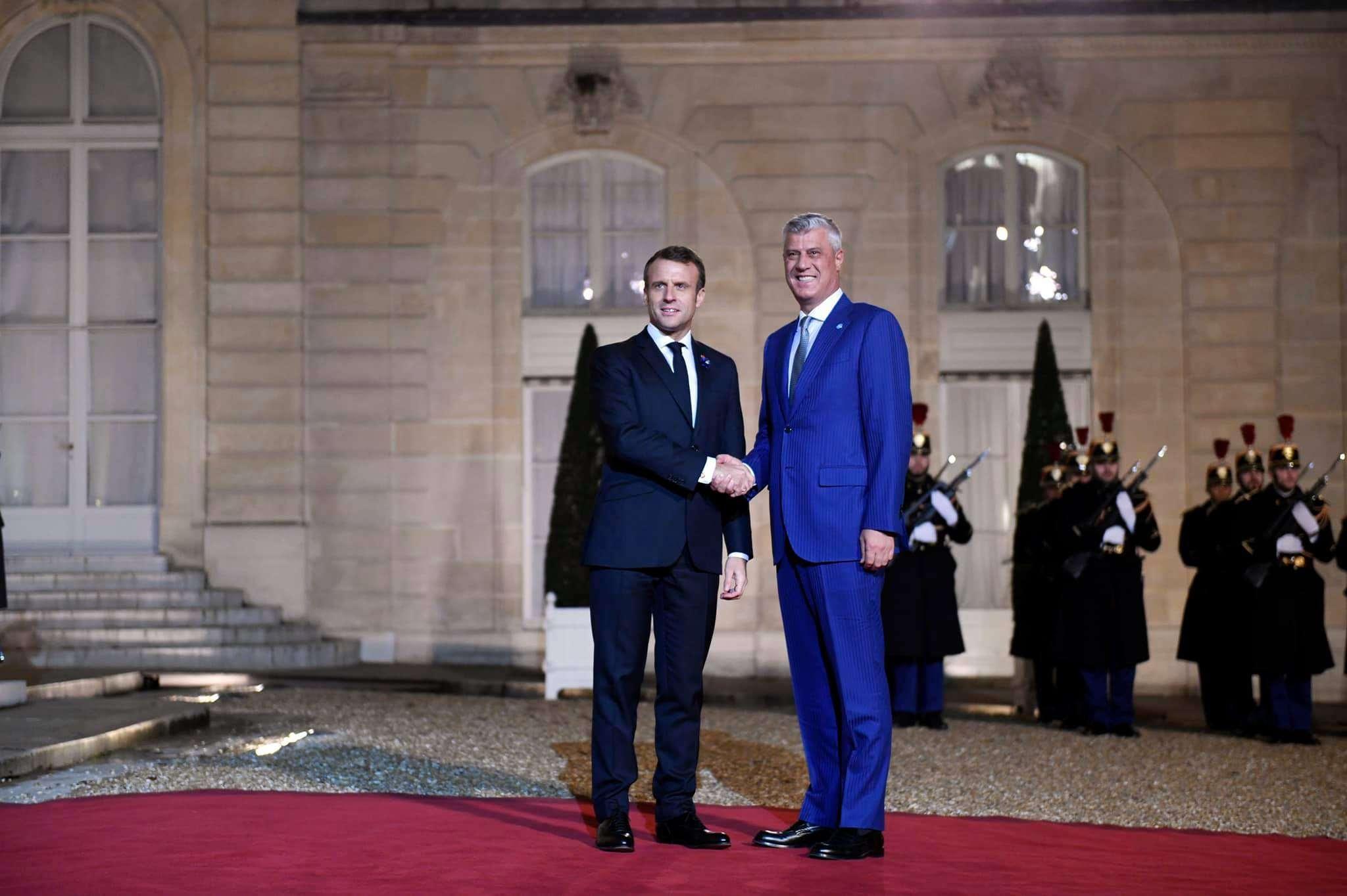 Thaçi takohet me Macronin   flasin për dialogun Kosovë Serbi