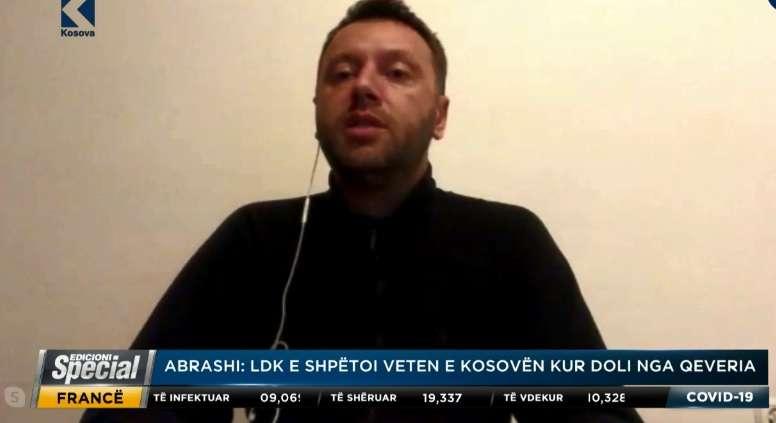 Abrashi  LDK nuk do që të shkohet në zgjedhje në kohë pandemie  do të kishte prapë ngërç politik