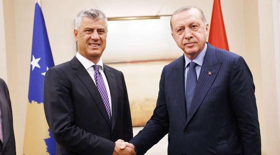 Thaçi  Ndihma e parë mjekësore nga jashtë erdhi nga Turqia