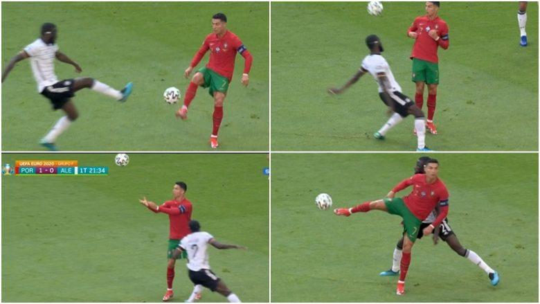 Bëhet hit në internet  Momenti kur Ronaldo  trullos  futbollistin e Gjermanisë me lëvizje